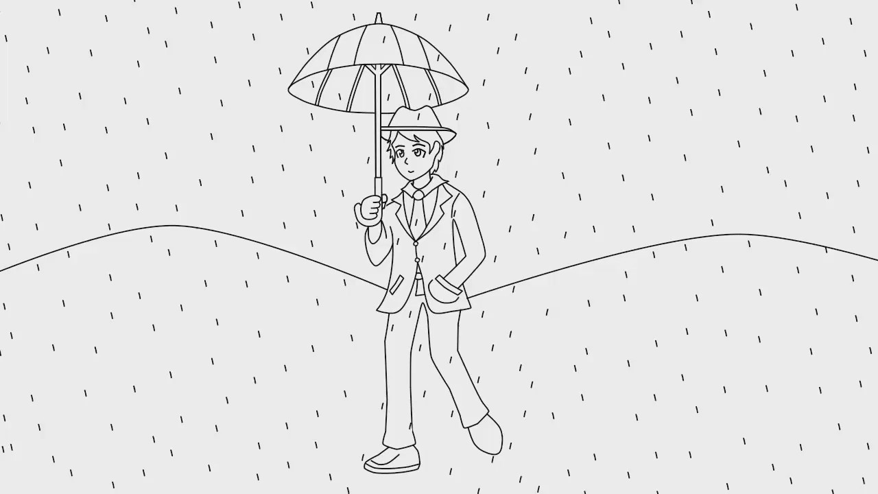 hombre bajo la lluvia  YouTube