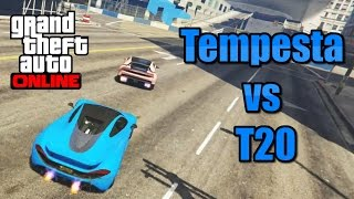 GTA 5 - Pegassi Tempesta vs Progen T20 On Track! (Racing Battle Comparison) Import/Export DLC