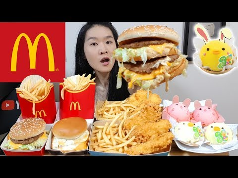 MCDONALD'S FEAST! Big Mac, Crunchy Fish N' Chips, Easter Cakes & Filet-O-Fish  | Mukbang Eating Show