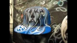 Steel Tears Airbrush Pit Bull Hat
