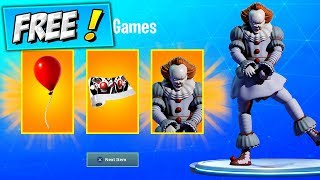 How To Get FREE IT 2 REWARDS TRAILER (RELEASE DATE) Fortnite Pennywise Skin & Chapter 2 CHALLENGES