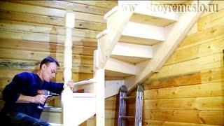 Изготовление деревянной лестницы // Строй - Ремесло(В этом видео рассмотрено устройство деревянной лестницы. Преимуществом данной лестницы, по сравнению с..., 2016-03-07T12:59:38.000Z)
