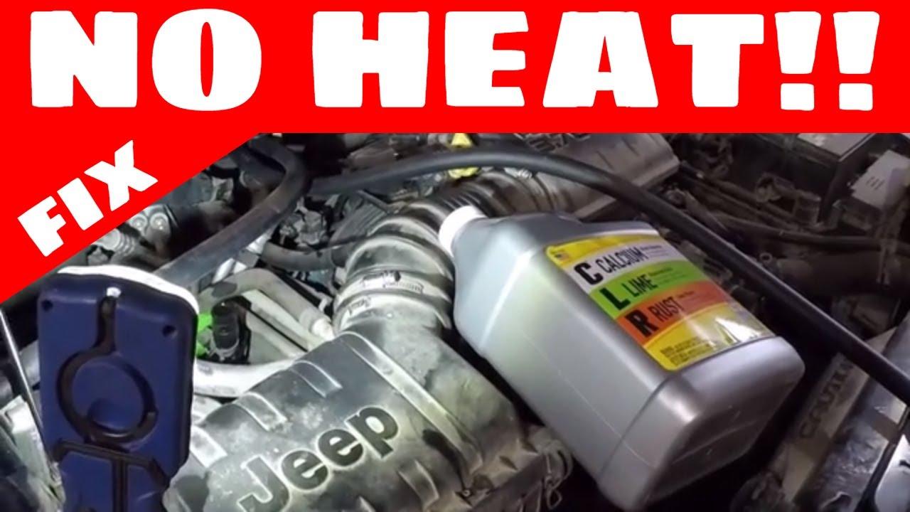 heater core flush clogged pump fix