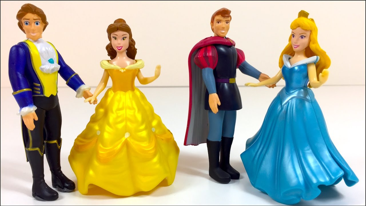 DISNEY PRINCESS DELUX SET BELLE WITH THE BEAST & PRINCE
