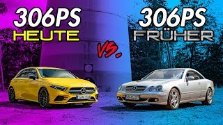 306PS heute vs. 306PS früher   Mercedes Benz C215 CL 500 vs W177 A 35 AMG