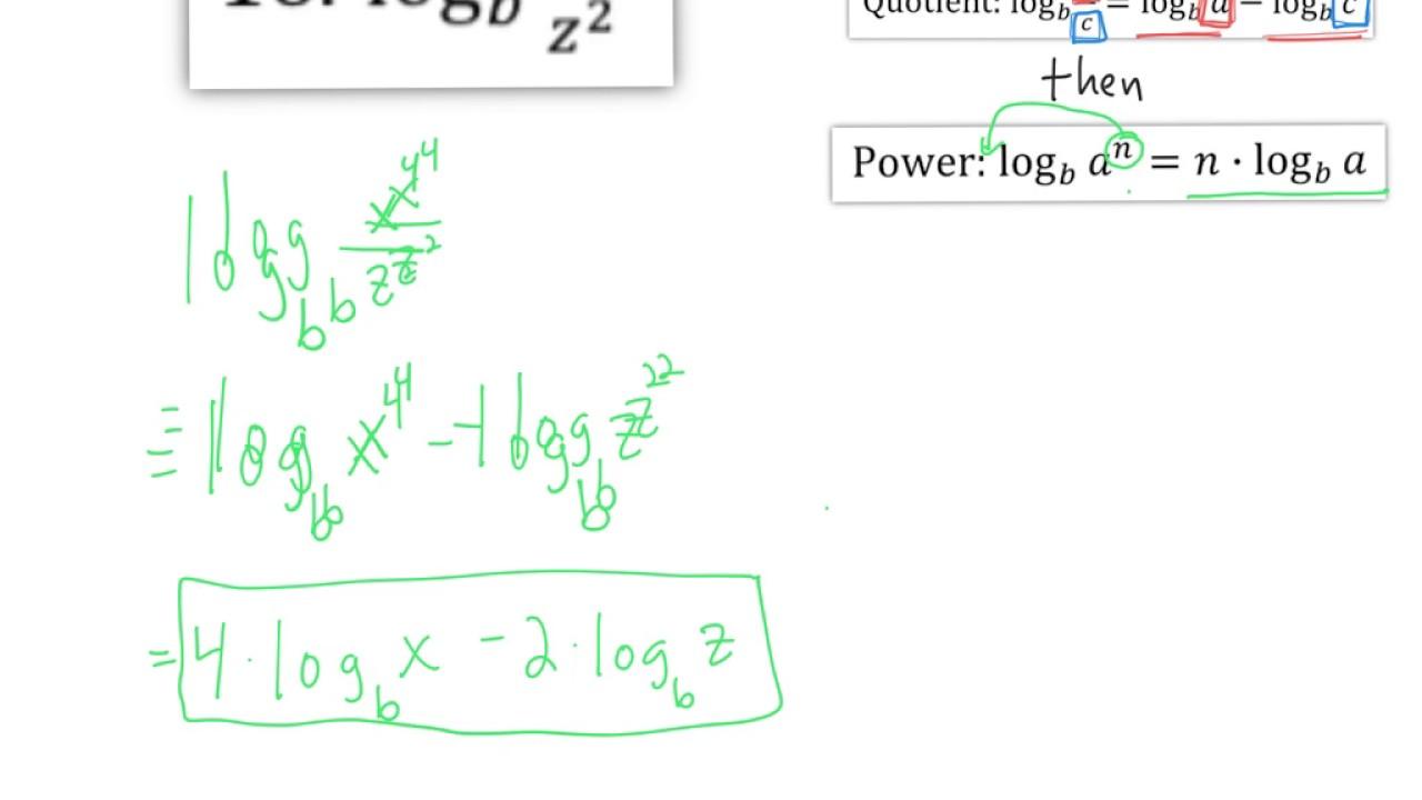 Properties Of Logarithms Worksheet 10 12 16 19 21 23 28