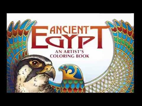 """Ancient Egypt; An Artist's Coloring Book"" by Dominique Navarro and AUC Press"