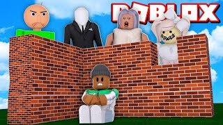 *NEW* BUILD to SURVIVE the Monsters OR DIE in Roblox!