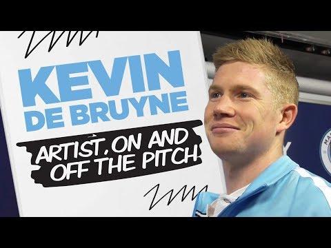KEVIN DE BRUYNE DRAWS HIS TEAMMATES