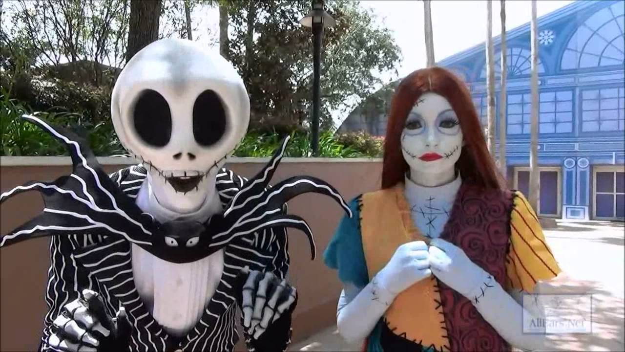 Nightmare Before Christmas Characters Jack and Sally - YouTube