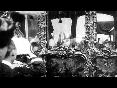 The Imperial coach carries Emperor Charles (Karl) I of Austria and Empress Zita. ...HD Stock Footage letöltés