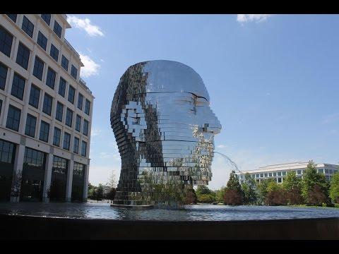 Metalmorphosis - Giant Metal Head Kinetic Sculpture in Charlotte