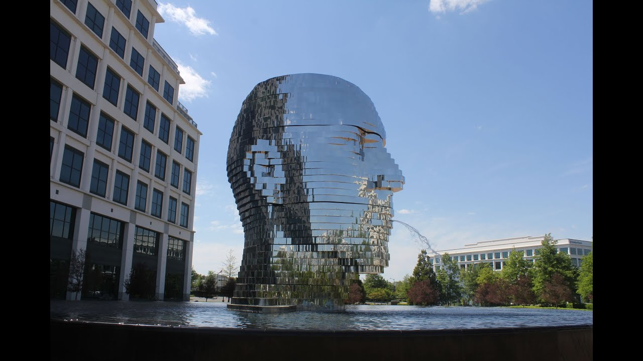 Metalmorphosis Giant Metal Head Kinetic Sculpture In