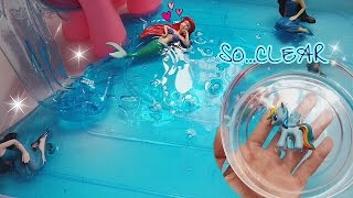 MERMAID SWIMMING POOL SLIME SUPER CLEAR HOLDABLE SOLID with HORSE GLUE THAILAND [  SIMPLE TUTORIAL ]