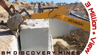 Granite block down | Use two excavator | BM Discovery Mines