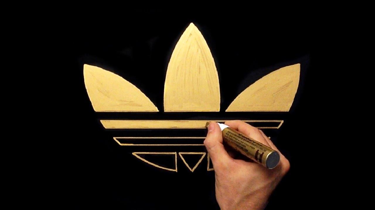 Adidas Logo Gold How To Draw Adidas Gol...