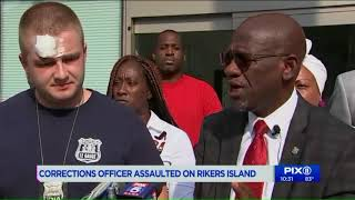 Correction officer jumped by gang members at Rikers