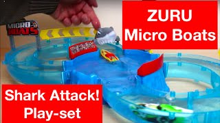 ZURU Micro Boats - Detailed & fun Play Test Review - Zuru Shark Attack Challenge