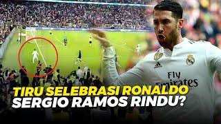 AUTO GEMURUH Detik Detik Ramos Tiru Selebrasi Ronaldo Usai Jadi Penentu Adu Penalti Real Madrid
