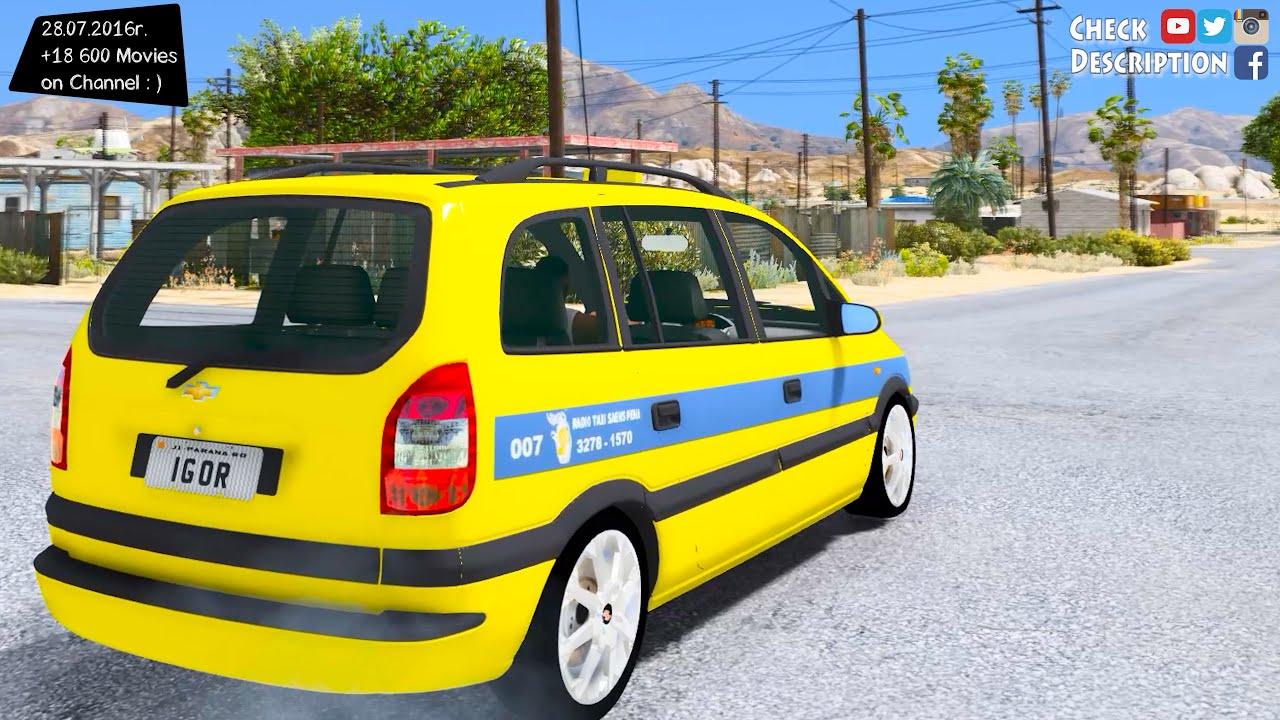 Chevrolet Zafira Taxi Rio De Janeiro Gta V Mod 2 7k 1440p Review Youtube