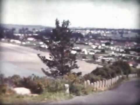 1955-1959 Driving North towards Orewa, New Zealand