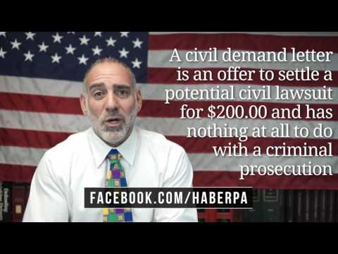 Do I have to Pay a Civil Demand Letter after being caught Shoplifting? (79) Michael A Haber Esq