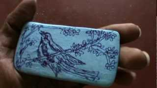 Drawing on soap by koodal kannan