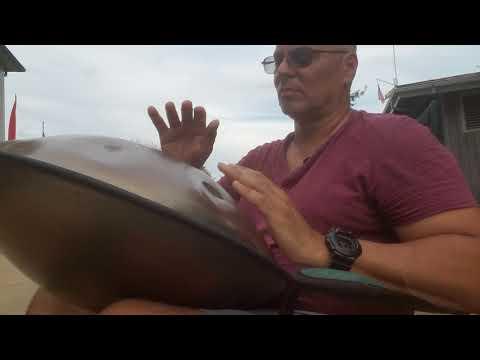 Playing handpan at Calvert Marine Museum 10/8/17