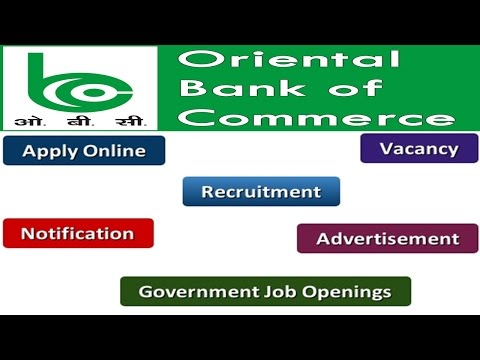 Oriental Bank of Commerce Recruitment Apply Online Notifications Careers Vacancy