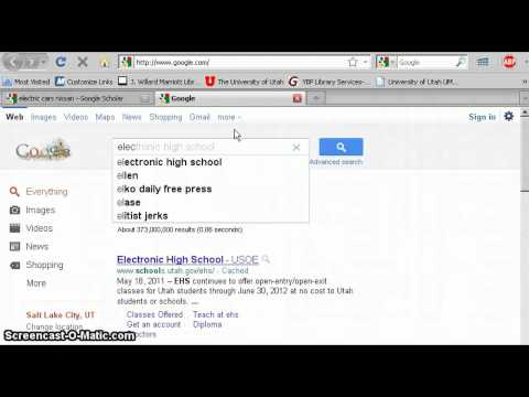 Google Scholar Tutorial