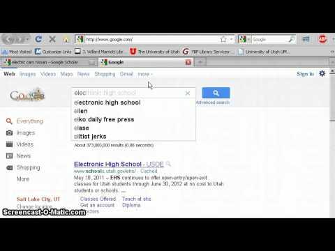 Google Scholar Tutorial
