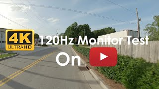 4k 120hz/fps video test |⚙️2x speed for ...