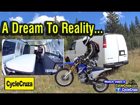 A Dream to Reality: Custom Stealth Moto Camper Van - Carries Motorcycle Inside!!