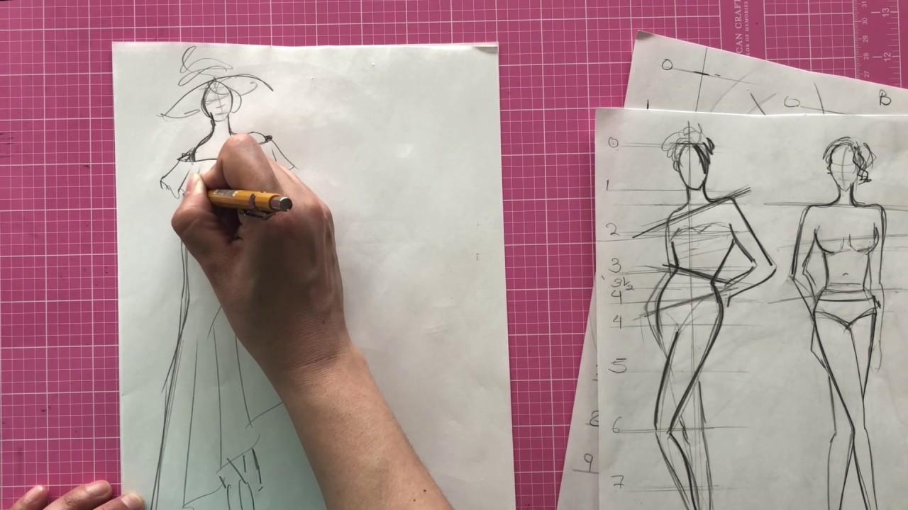 Fashion Illustration Lesson- 9 Head Fashion Figure - Part 3