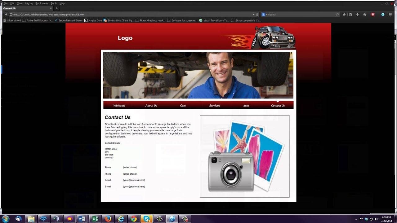 Template Gallery WebEasy Pro 10