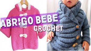 Repeat youtube video Abrigo Para Bebe - Tejidos a Crochet y Dos Agujas