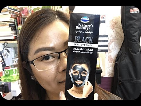 NATURE'S BOUNTY BLACK PEEL OFF MASK DEMO & REVIEW(TAGALOG)
