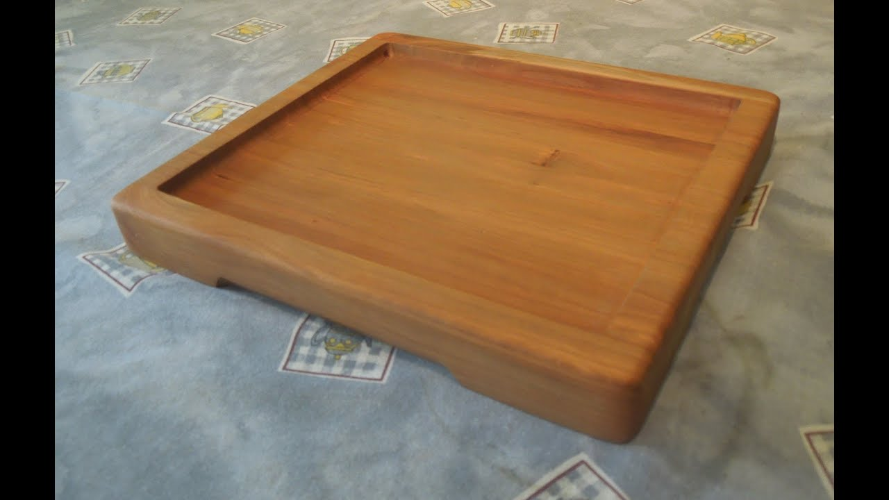 Making A Wooden Platter Plate Youtube