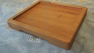 Making A Wooden Platter/plate
