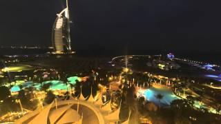 Burj Al Arab Jumeirah Beach Hotel Lichtspiel gopro 4k