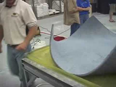 Bending Concrete into Furniture Wood looking Table
