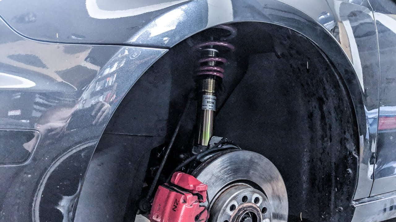 HOW TO INSTALL COILOVERS AND REPLACE SUSPENSION VW GTI GOLF MK6 2011