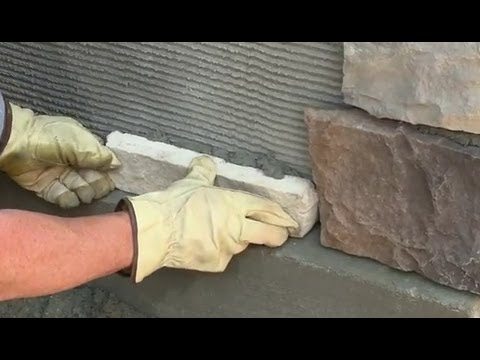 How To Install Veneer Stone Youtube