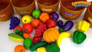 Best Learning Video for Kids: Healthy Foods Learn Colors Sorting Nutrition Fruits and Vegetable Toys