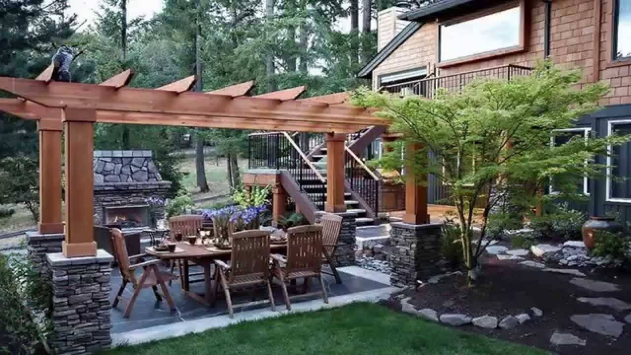 Landscaping ideas backyard landscape design ideas youtube for Backyard designs