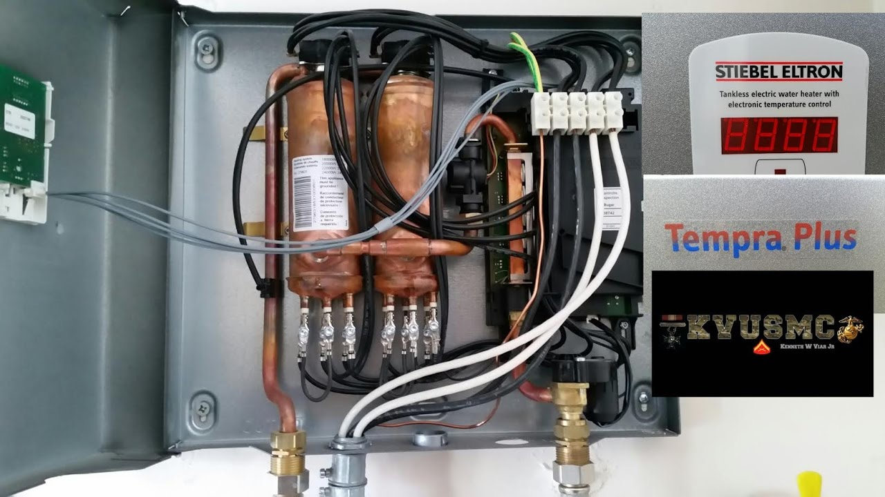 stiebel eltron tempra plus whole house tankless electric hot water heater install how to by kvusmc [ 1280 x 720 Pixel ]