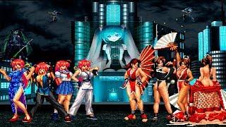 KOF Mugen Kung Fu Girl Team VS Mai Team