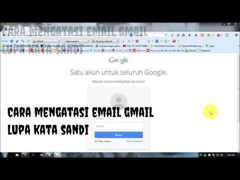 Cara mengatasi email lupa kata sandi