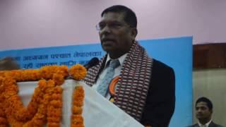 एउटै मञ्चमा रहेका भारतीय राजदूतलाई नेपाल छोड्न आग्रह गर्दै पर्यटनमन्त्री - जीवनबहादुर शाही