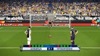 JUVENTUS vs TOTTENHAM   UEFA Champions League - UCL   Penalty Shootout   PES 2018 Gameplay PC